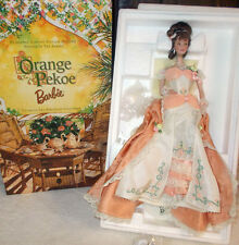 , 1999 Victorian Tea ORANGE PEKOE Porcelain BARBIE Doll, Mattel 25507