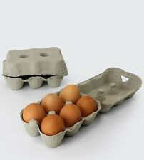 600 x 1/2 Dozen Grey Egg Boxes For Poultry (Hens/Ducks/Chickens).