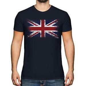 UNION JACK DISTRESSED FLAG MENS T-SHIRT TOP UK GB GREAT BRITAIN UNITED KINGDOM