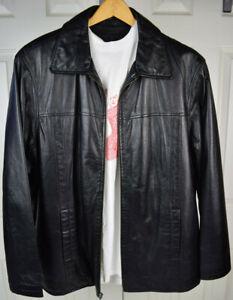 Vintage 1990\u2019s Brown Leather Grunge Distressed Workwear Large Bomber Jacket Retro Hip Hop Streetwear Outerwear Unique Cool Leather Jacket
