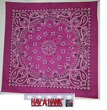 *USA MADE HAVAHANK 2-Sided Cotton PAISLEY BANDANNA BANDANA Head Wrap Scarf Hanky