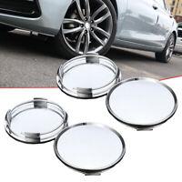 4x Silver 58mm 63mm ABS Auto Car Wheel Center Caps Cover Tyre Tire Rim Hub Cap