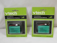 TWO GENUINE VTech 27910, 3.6V,600mAh Ni-MH Rechargeable Battery 89-1323-00-00