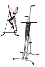 MaxiClimber Vertical Maxi Climber Workout Fitness Machine w Diet Manual Sealed