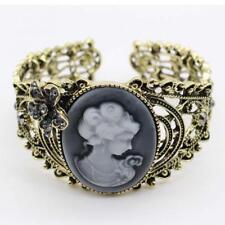 Cameo Lady Crystal Rhinestone Cuff Bracelet Bangle Bracelets