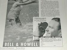 1938 Bell & Howell advertisement, Filmo movie camera Filmo 8mm