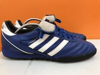 ADIDAS KAISER 5 Astro Turf Football Trainers / Boots in BLUE + WHITE Size UK 12