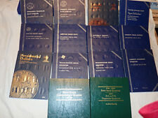 LOT of 14 EMPTY COIN BOOKS ALBUM FOLDER WHITMAN INDIANS TO DOLLARS USED