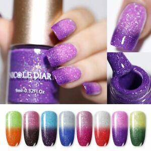 Nail Polish Glitter Shinny Shimmer Varnish Color Changing Water Based 9ml 6ml