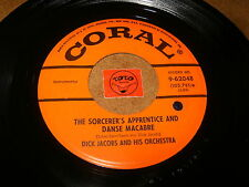 DICK JACOBS - THE SORCERER'S APPRENTICE AND DANCE MACABRE/LISTEN / JAZZ  POPCORN