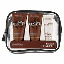 John Frieda Brilliant Brunette Shampoo Conditioner & Glosser Travel Set - NEW !
