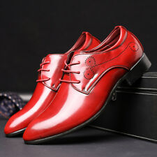 Men's Formal Oxfords Leather Shoes Business Casual Pointed Toe Lace Up Comfy