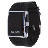 Luxux Maenner rote LED helle Sport Armbanduhr Geschenk Art - Schwarz