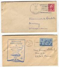 1934 USS Holland  Submarine Cancel  Postal Cover & 1947 Holland Anniversary