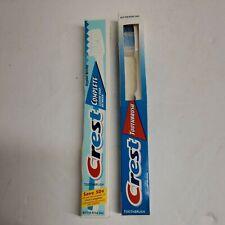 2 Vintage CREST Toothbrush's 1997 Crest Complete Rippled Bristles & a 1999