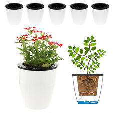 """6 Pack 4.7"""" Self Watering Planter Wicking Plastic Plant Pots for African Violet"""