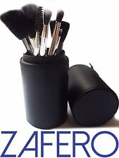 ZAFERO Make Up Brushes Set Tool Kit and Cup Holder Case
