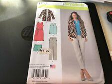 Simplicity Pattern 1430 Ms Slim Pants~Shorts~Sleeveless Dress~Top & Jacket