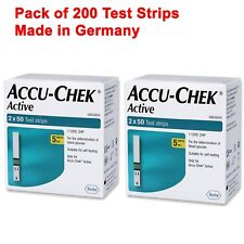 ACCU CHEK ACTIVE 200 TEST STRIPS NEW STOCK EXP October 2019