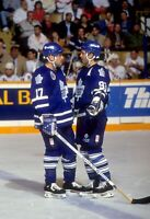 DOUG GILMOUR/WENDEL CLARK TORONTO MAPLE LEAFS UNSIGNED 8x10 Photo (B)