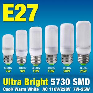 E27 Base 5730 smd LED Corn Bulb Cool/Warm White Lamp Light Milky White 110/220V