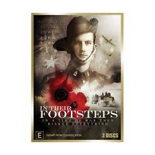 DVD In Their Footsteps Family History Doco Ch 9 WW1 WW2 Vietnam 3x DISCs 540 min