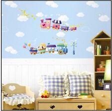 Animal Train Bear Dog Star Moon Wall Sticker Decal Home Decor Vinyl Kids Room