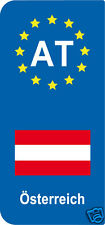 lot 2 Stickers style immatriculation (Vinyl FLAG) Europe Österreich AT