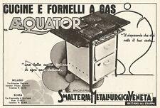 W2632 Cucine e Fornelli a gas AEQUATOR - Pubblicità del 1938 - Old advertising