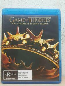 Game of Thrones Season 2 Blu-ray (5 DISC) Series Two Second BLU RAY - AUSTRALIA