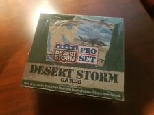 1991 Desert Storm Iraq War Military Trading Cards Pro Set Factory Sealed