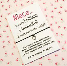 Wish String Charm Bracelet For Niece! Niece Wish String! BUY 5 GET 1 FREE!