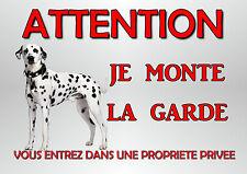plaque chien de garde dalmatien en métal 29 X 19 cm percée aux angles réf 53