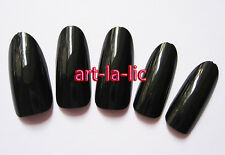500 Oval Head Round Stiletto Full False Nail Art Tip Acrylic Natural Clear More