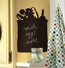 WALLIES TOTE BAG CHALKBOARD wall sticker BIG decal includes chalk shopping bag