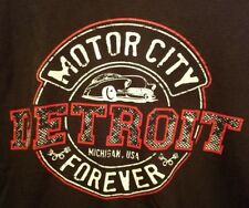 MOTOR CITY DETROIT MICHIGAN U.S.A FOREVER LIVE AND TELL T-SHIRT BLACK