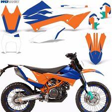 KTM Graphic Kit Dirt Bike Decals w/Backgrounds 690 r SMC / Enduro Wrap 12-16 RB