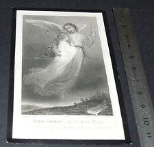 CHROMO 1909 IMAGE PIEUSE CATHOLICISME HOLY CARD ANGE DECES ENFANT