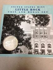 Little Rock Coin and Medal Set With Unc Silver Dollar 2007