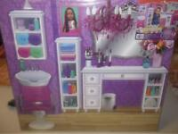 """2 sided background back drop display board for 18/"""" dolls 20 x 30  bakery//salon"""