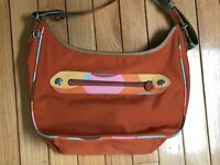 Kipling ANA clutch orange zip closure hand bag