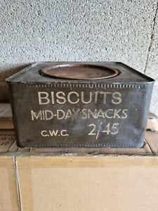 Boîte Biscuits Anglais Ww2 3945 Allemand Ww2