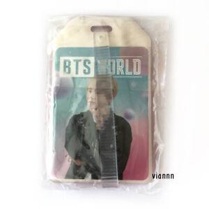 BTS The World Weverse V Photocard + Luggage Tag / nct exo taehyung jungkook suga