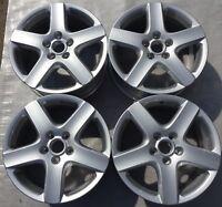 4 Orig VW Alufelgen 7Jx17 ET54 1K0601025B VW Golf V Golf VI Jetta Touran F3191