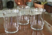 Blown Clear Glass with Flared Rimmed Candle Holder Trio