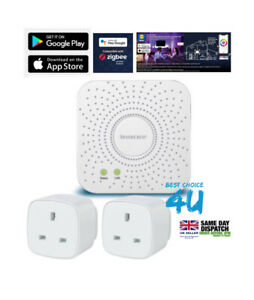 Silvercrest Smart Home Zigbee Gateway+2 Silvercrest Smart Plug Zigbee Compatible