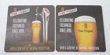 HONG KONG Beer Mat Coaster SAN MIGUEL Celebrating Freshness Since 1980 Rare 2015