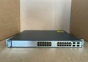 Cisco 3750G-24TS-E1U with IOS 15 & Brackets Cisco Catalyst C3750G-24TS-E1U