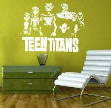 Teen Titans Wall Decal Cartoon Vinyl Stickers Superhero Wall Art Mural Decor 7tn
