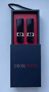 DIOR LIPSTICK 100 NUDE LOOK 999 ROUGE SET OS 2 PCS IN BOX VIP GIFT MINIATURE